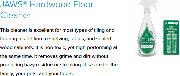 JAWS® Hardwood Floor Cleaner