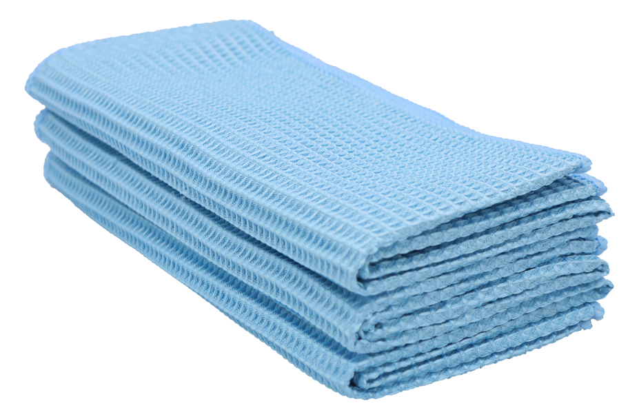 Professional Microfiber Waffle Cloths (3-Pack)